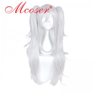 70cm Azur Lane Silver white Color Cosplay Wig Two ponytails