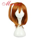 30CM Short Straight Love Live Kousaka Honoka Brown Color Cosplay Wig WIG-560B