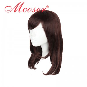 45cm Medium Straight Overwatch Cosplay Wig WIG-626A
