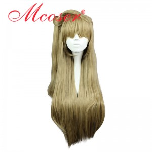80CM Short Straight Love Live! Minami Kotori Flaxen Color Cosplay Wig WIG-560A