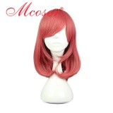 44CM Short Straight Love Live Red Color Cosplay Wig WIG-560D