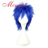 fairy tail-The Smith\'s blue cosplay wig 023F