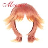 30cm Short Straight 王室教師ハイネ  Orange Cosplay Wig WIG-651C