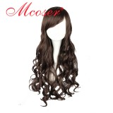 70CM Lolita Curly zipper wig Dark Brown Color WIG-405A