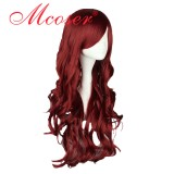 70CM Lolita Curly zipper wig red wine Color WIG-404A