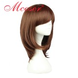 40CM Short Straight Wolf Girl & Black Prince-erika shinohara Dark Brown Color Cosplay Wig WIG-563A