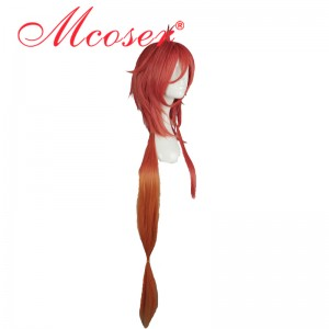 90cm Long Straight Adriano Leite · McAlester cos wig Rokka no Yūsha Red Cosplay Wig WIG-588A