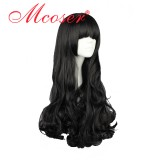 RWBY Blake Belladonna Black Long Curly Cosplay Wig WIG-011C