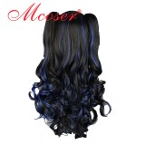 70CM Lolita/zipper wig Mix Color With Two Ponytails WIG-381A