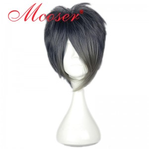30cm Short Straight sword art online MikazukiMunetika Black Cosplay Wig WIG-579N
