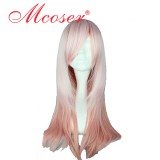 62cm Long Light Pink Mixed Straight Beautiful Lolita wig WIG-340A