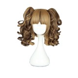 35CM Lolita Curly zipper wig With Two Ponytails Mix Color WIG-420A