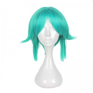 30CM Gem country Green Color Cosplay Wig WIG-667B