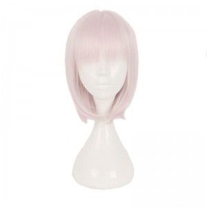 40 CM Light Pink FGO Fate Grand Order cosplay Wig WIG-659Q